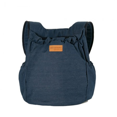 Hug front Bag Denim Deep Blue