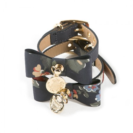 Flower Ribbon Collar Black
